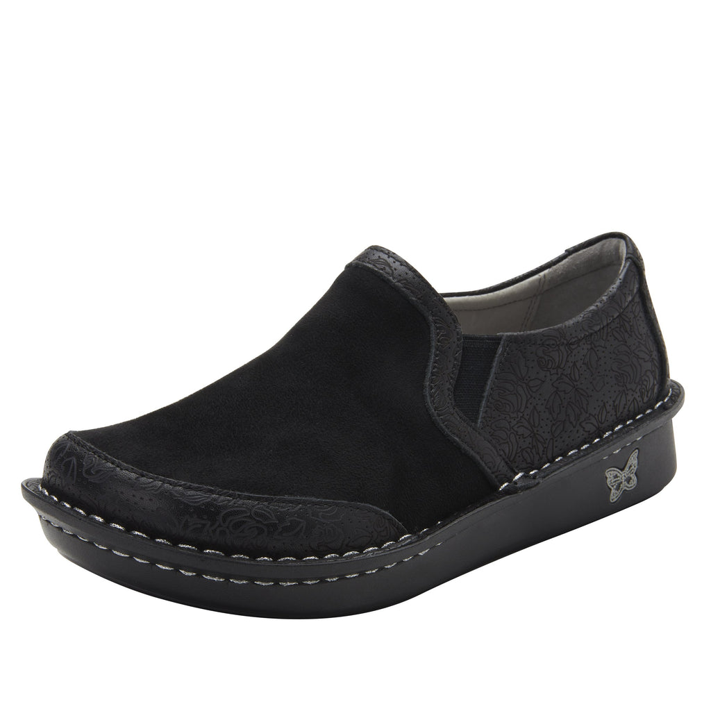 Brook Ink Impressions slip-on shoe on mini outsole, with double elastic gore for ease of wear - BRO-7825_S1