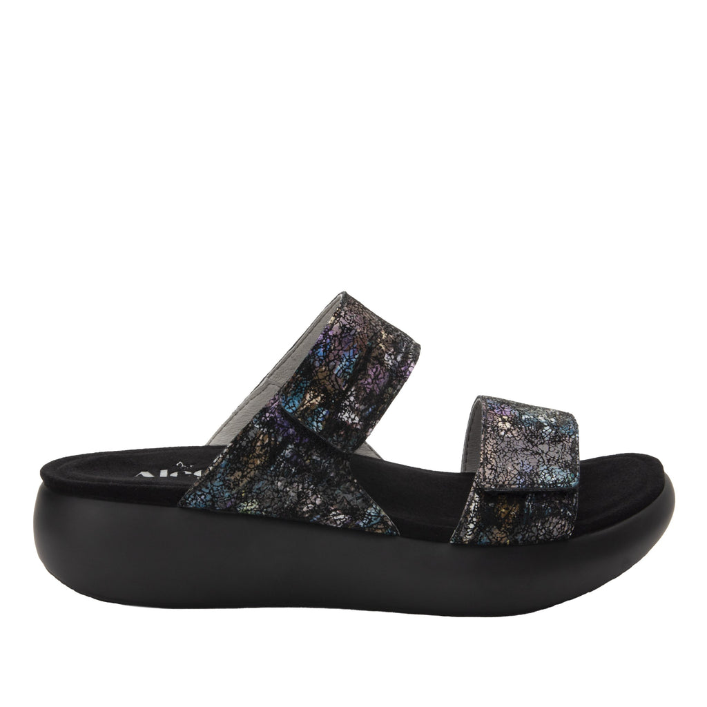 Bryce Montage slip on two strap sandal with non-flexing sleek rocker bottom with built in arch support  - BRY-7763_S3
