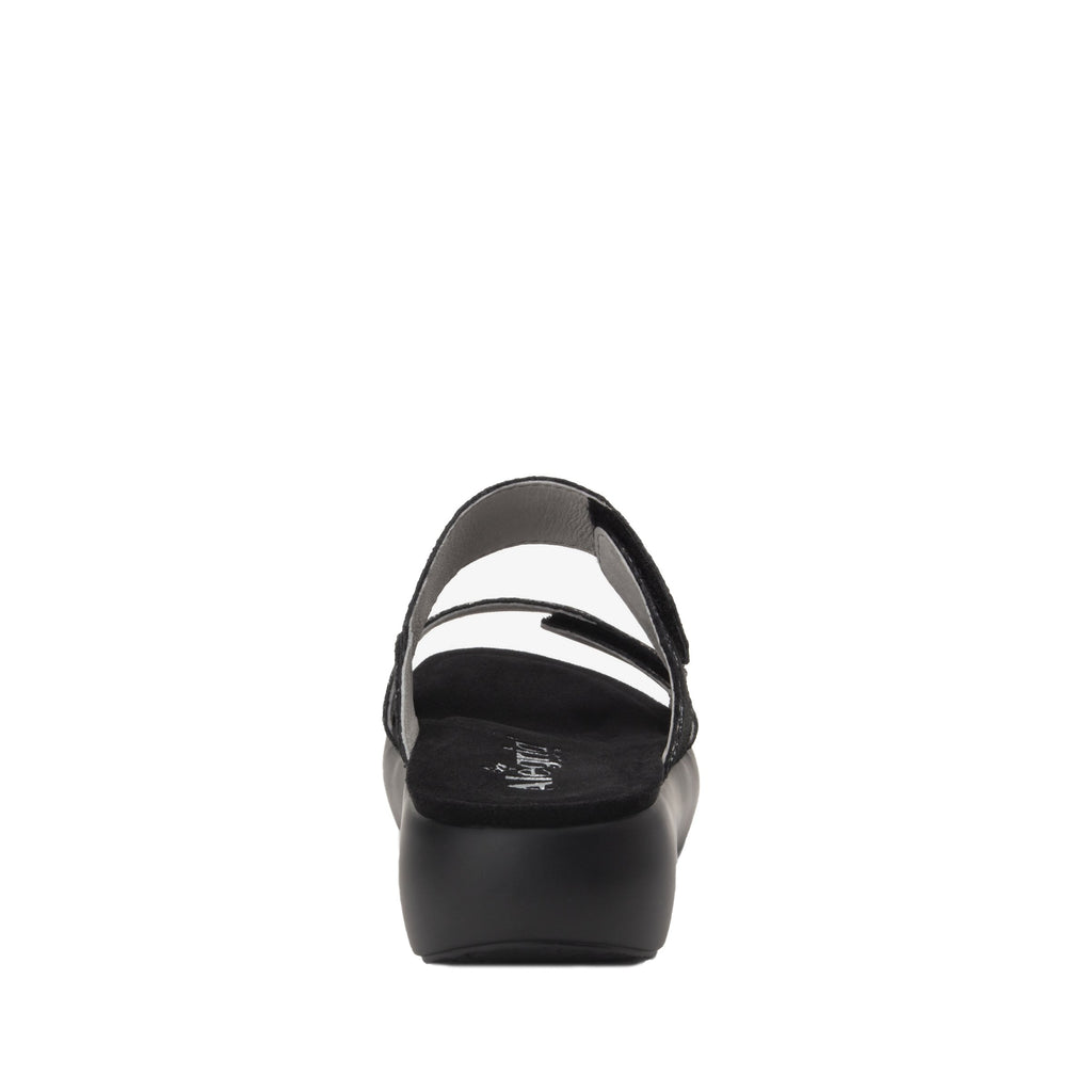 Bryce Montage slip on two strap sandal with non-flexing sleek rocker bottom with built in arch support  - BRY-7763_S4