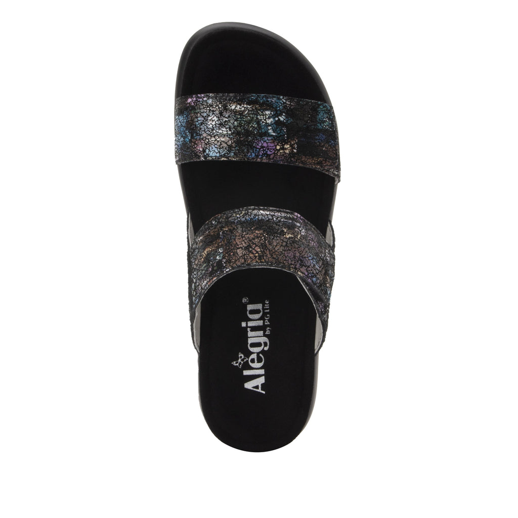 Bryce Montage slip on two strap sandal with non-flexing sleek rocker bottom with built in arch support  - BRY-7763_S5