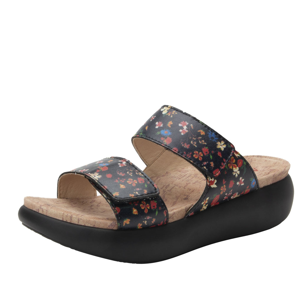 Bryce Kindred slip on two strap sandal with non-flexing sleek rocker bottom with built in arch support  - BRY-7804_S1