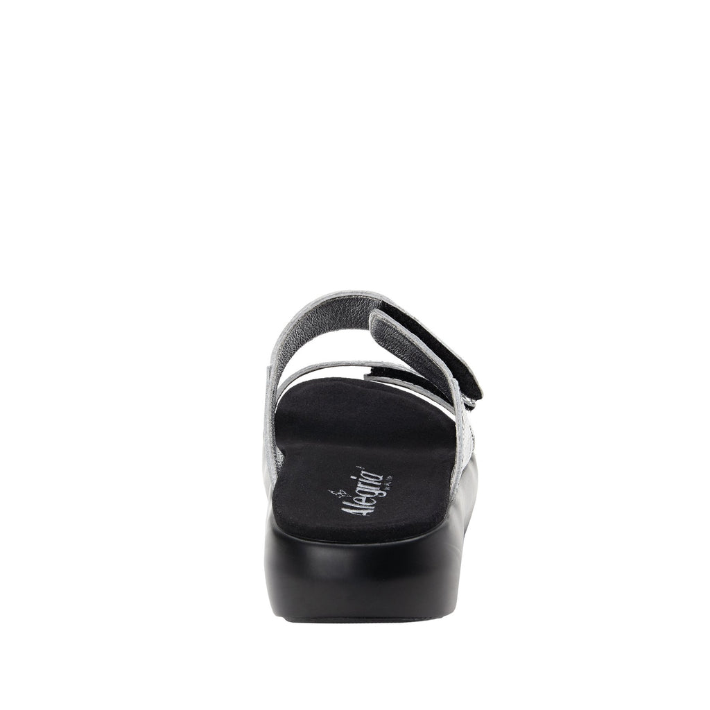 Bryce Chevron and On slip on two strap sandal with non-flexing sleek rocker bottom with built in arch support  - BRY-813_S4