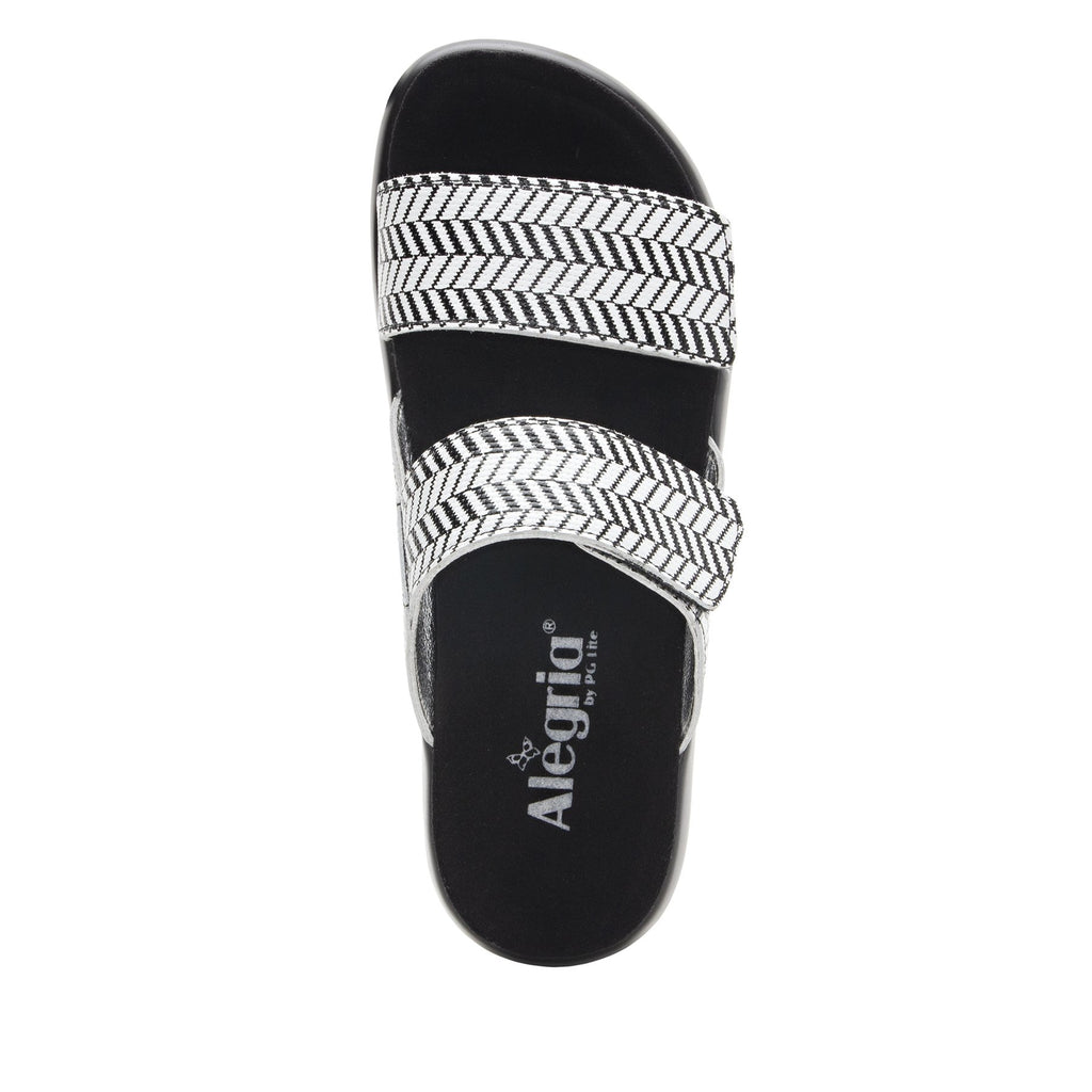 Bryce Chevron and On slip on two strap sandal with non-flexing sleek rocker bottom with built in arch support  - BRY-813_S5