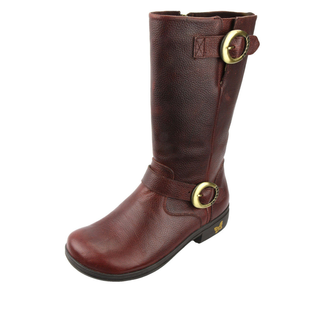 Cami Mahogany Boot - Alegria Shoes