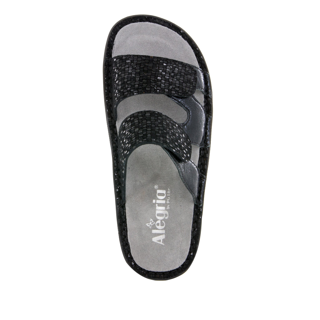 Camille Tile Me More Black Sandal with dual adjustable strap on Classic rocker outsole - CAM-765_S4 (499269664822)