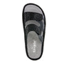 Camille Tile Me More Black Sandal with dual adjustable strap on Classic rocker outsole - CAM-765_S4