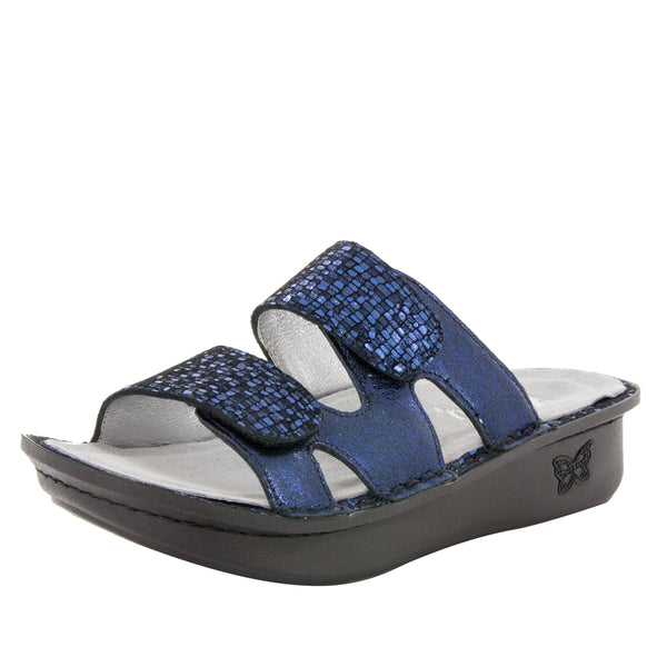 Camille Tile Me More Dusk Sandal with dual adjustable strap on Classic rocker outsole - CAM-766_S1