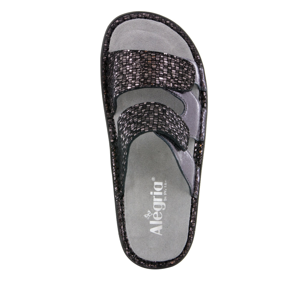 Camille Tile Me More Pewter Sandal with dual adjustable strap on Classic rocker outsole - CAM-767_S4 (499269763126)