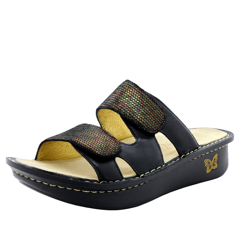 Camille Copper Tones slide sandal with cutout design on classic rocker outsole - CAM-930_S1