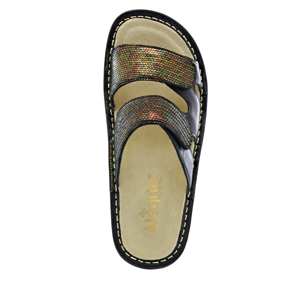 Camille Copper Tones slide sandal with cutout design on classic rocker outsole - CAM-930_S4 (1563153498166)
