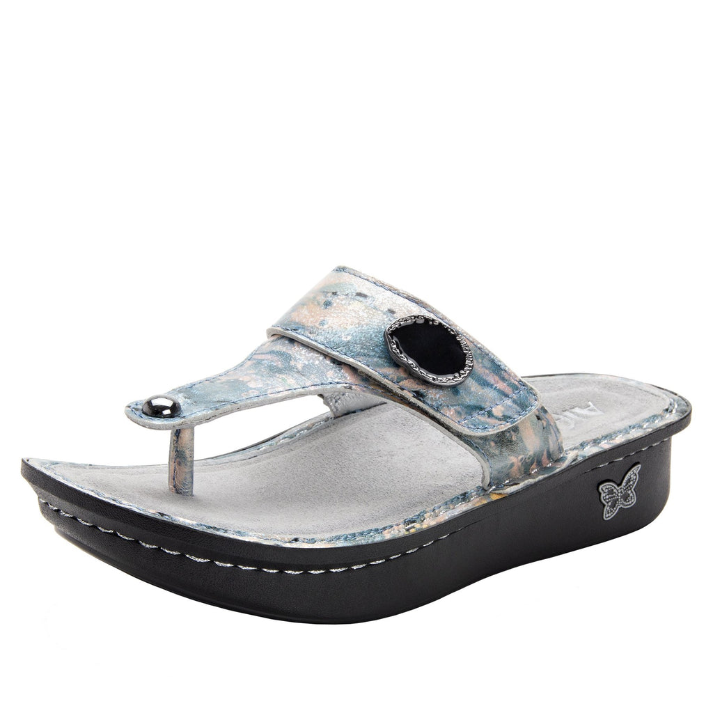 Carina Glacier thong style sandal on the Classic rocker outsole - CAR-221_S1