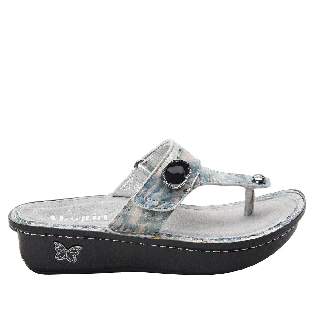 Carina Glacier thong style sandal on the Classic rocker outsole - CAR-221_S2
