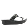 Carina Chained Black thong style sandal on the Classic rocker outsole - CAR-255_S2