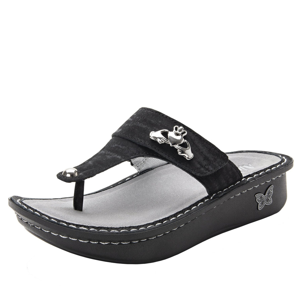 Carina Caviar thong style sandal on the Classic rocker outsole - CAR-277_S1