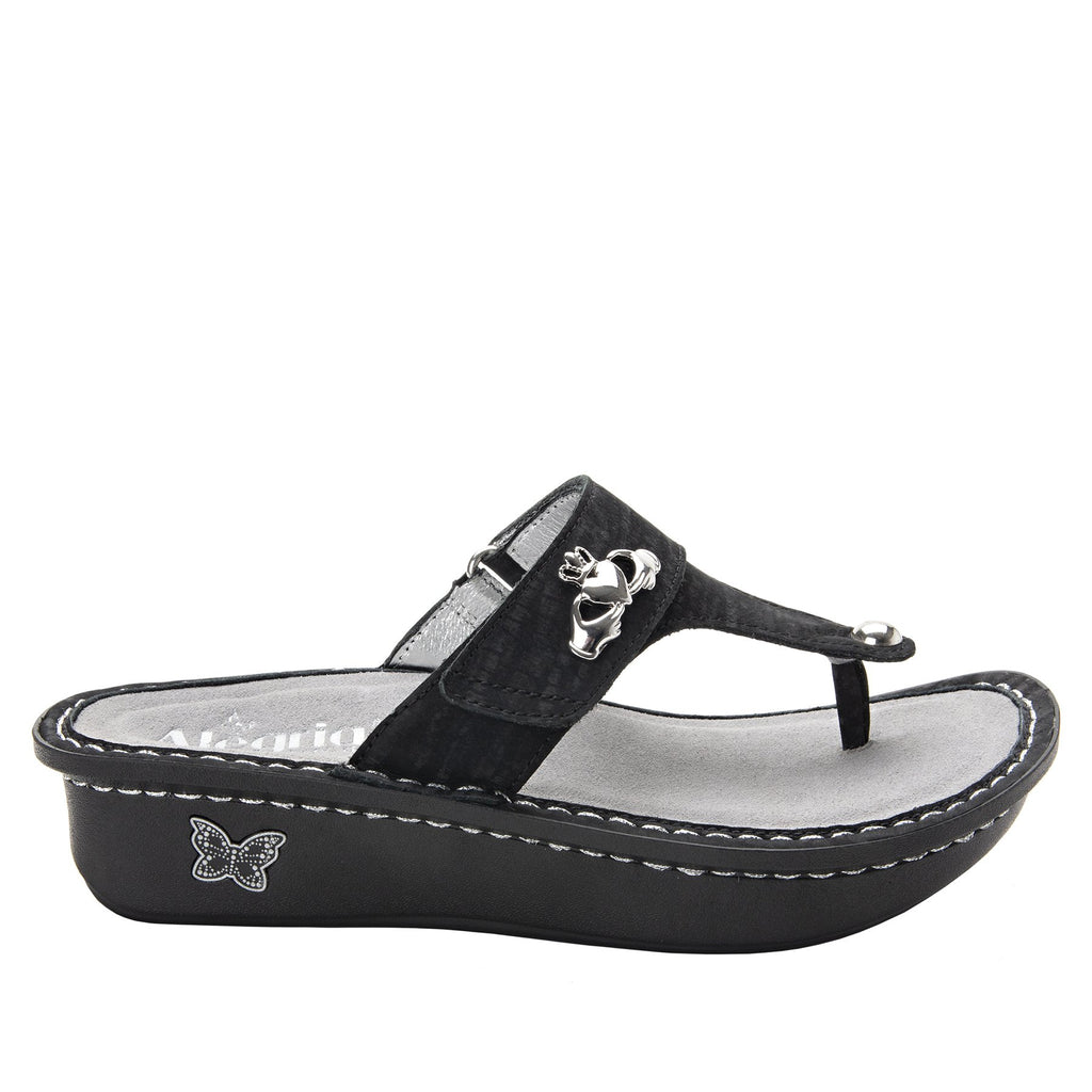 Carina Caviar thong style sandal on the Classic rocker outsole - CAR-277_S2