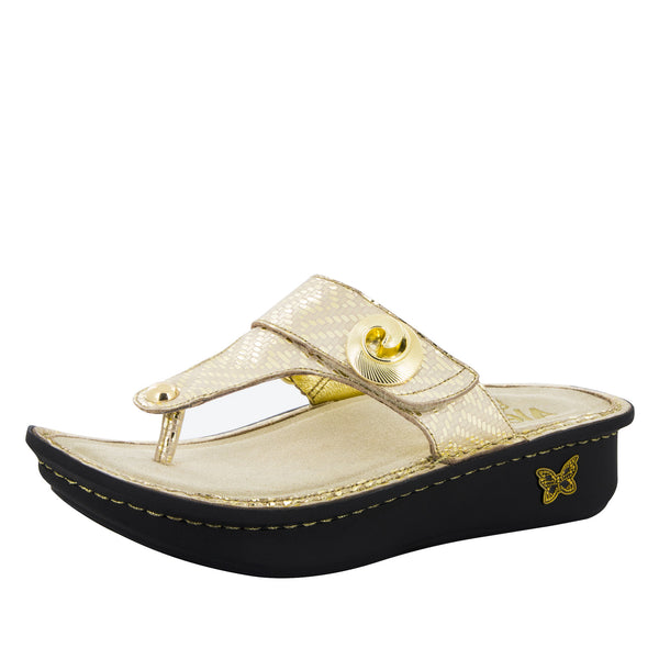 Carina Gold Dazzler Sandal - Alegria Shoes - 1