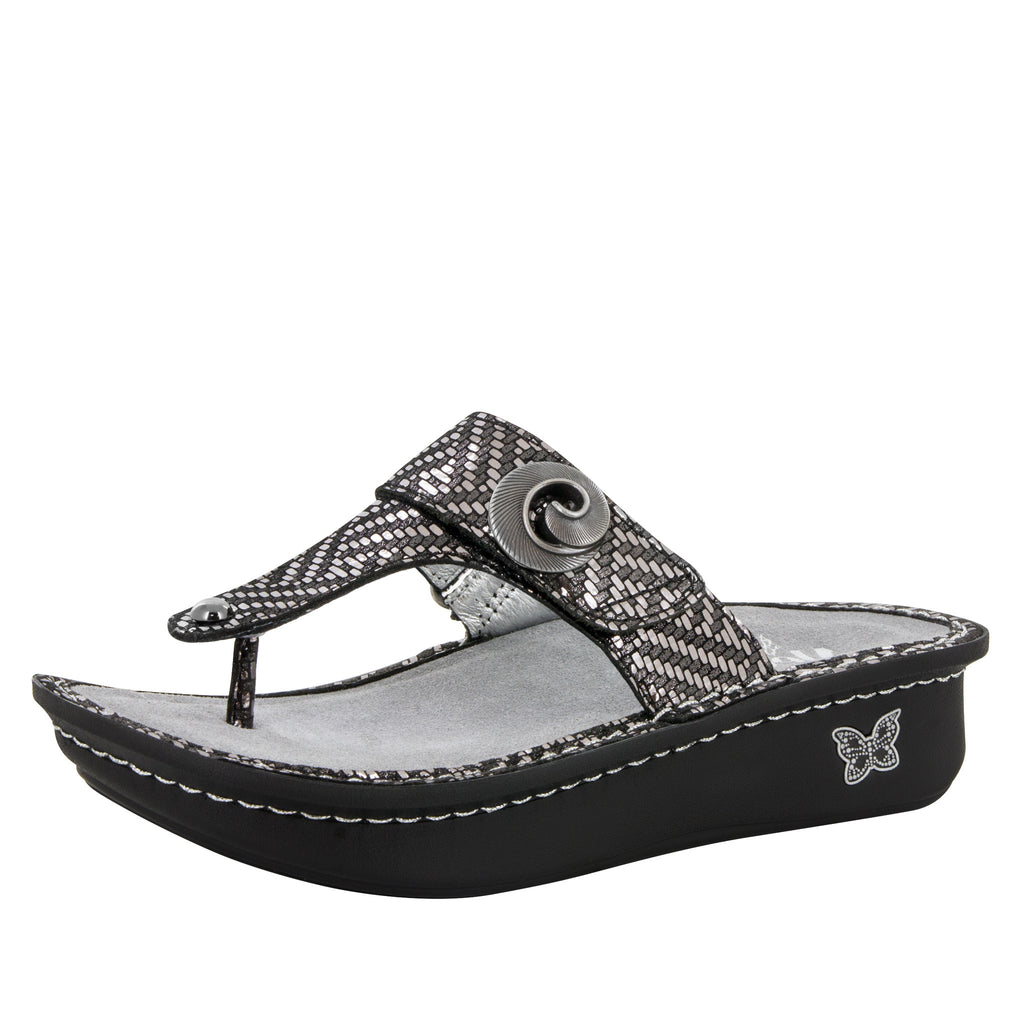 Carina Pewter Dazzler Sandal - Alegria Shoes - 1