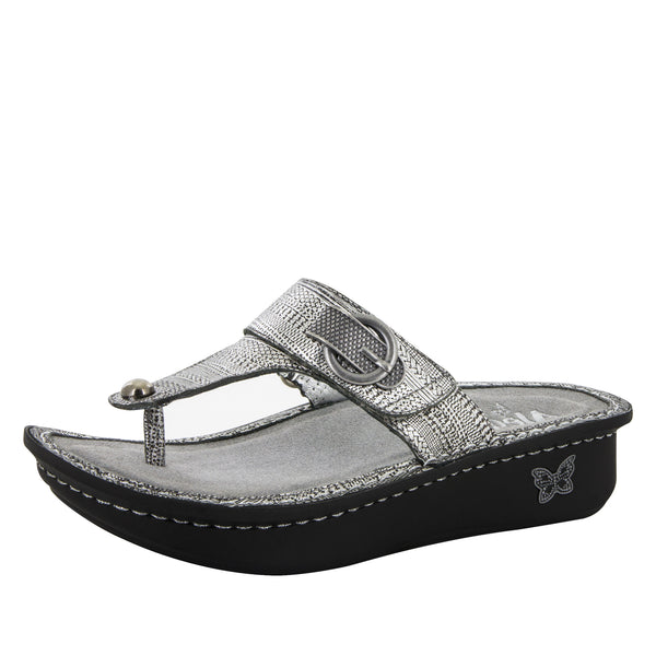 Carina Chain Mail Sandal - Alegria Shoes - 1