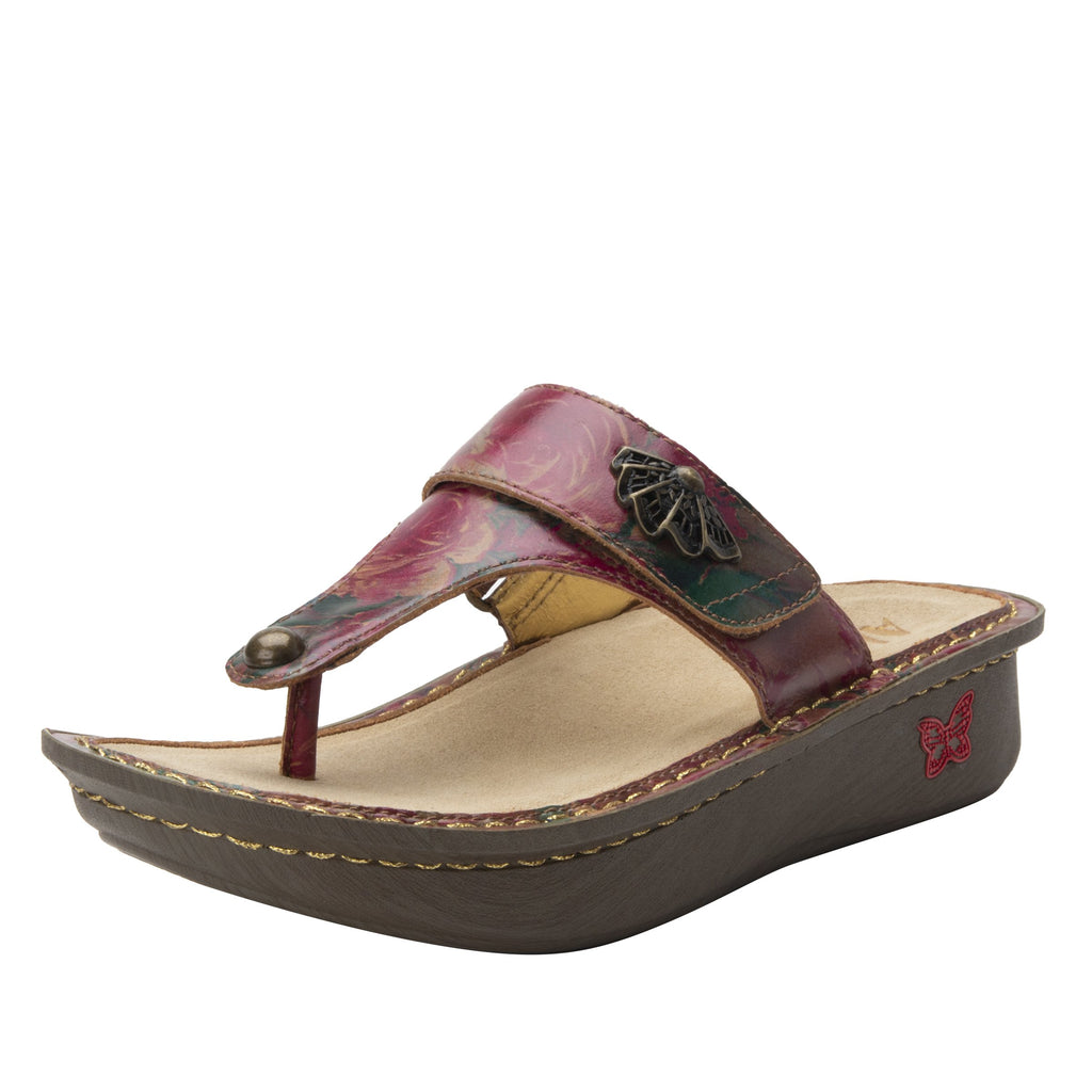 Carina Southwestern Romance thong style sandal on the Classic rocker outsole - CAR-7716_S1