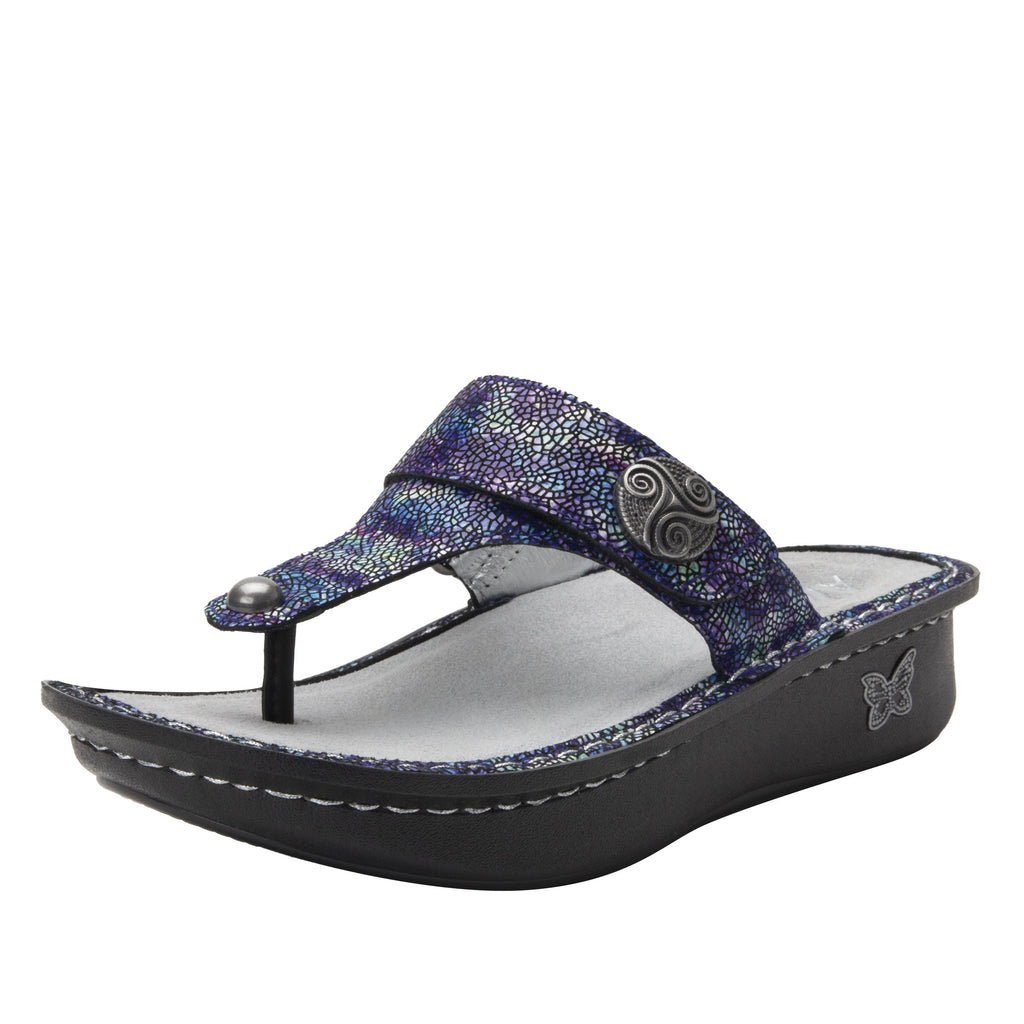 Carina Purple Swell thong style sandal on the Classic rocker outsole - CAR-7744_S1