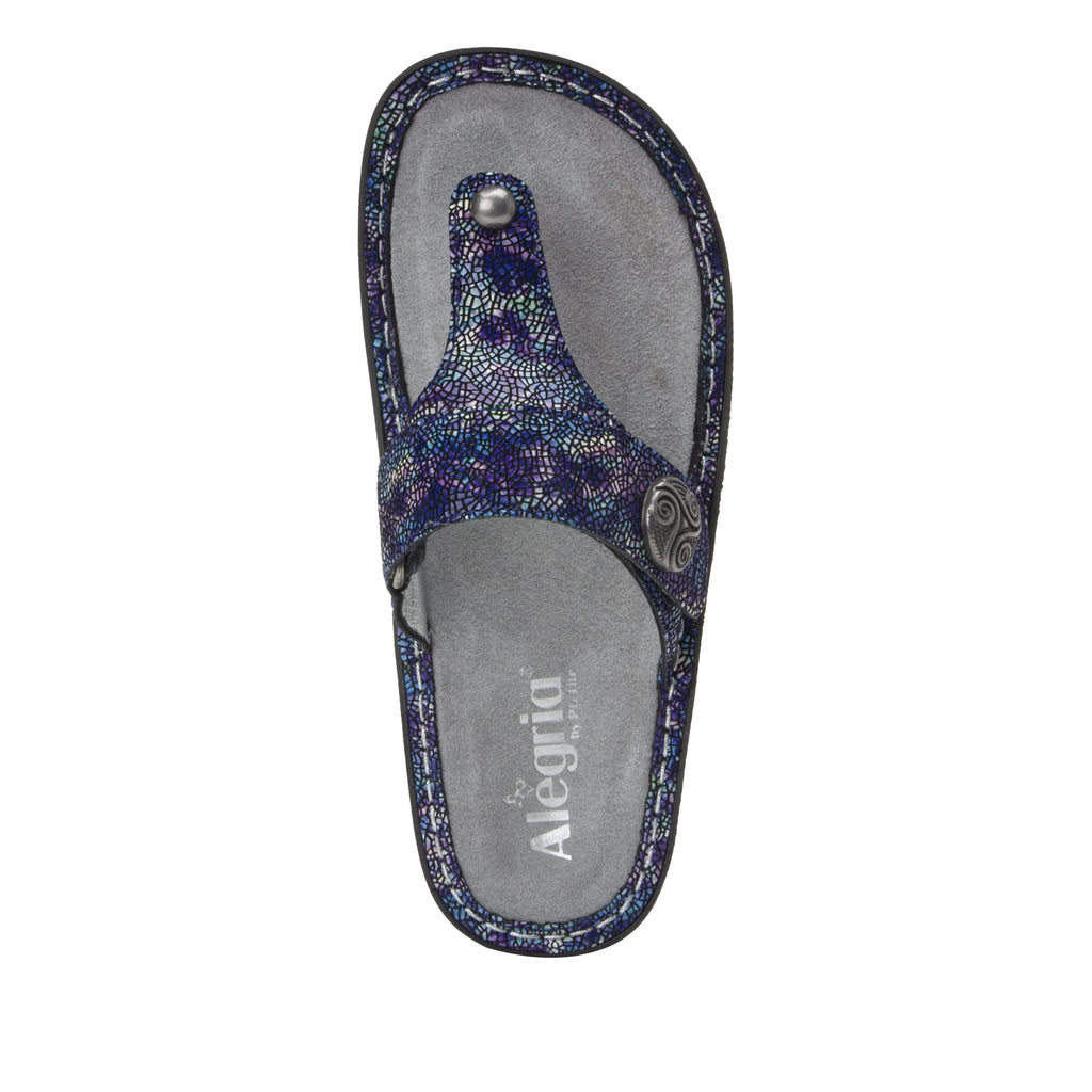 Carina Purple Swell thong style sandal on the Classic rocker outsole - CAR-7744_S5
