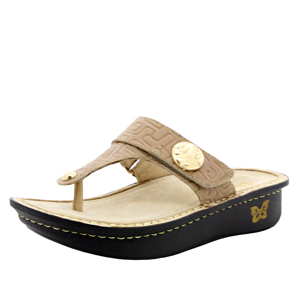 2b4440e56b7da Carina Basically Amazing thong style sandal on classic rocker outsole - CAR -876 S1