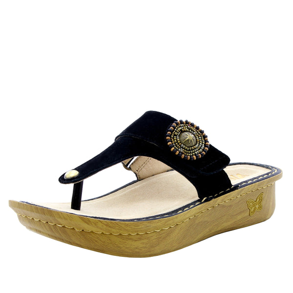 Carina Folkie thong style sandal on classic rocker outsole - CAR-877_S1
