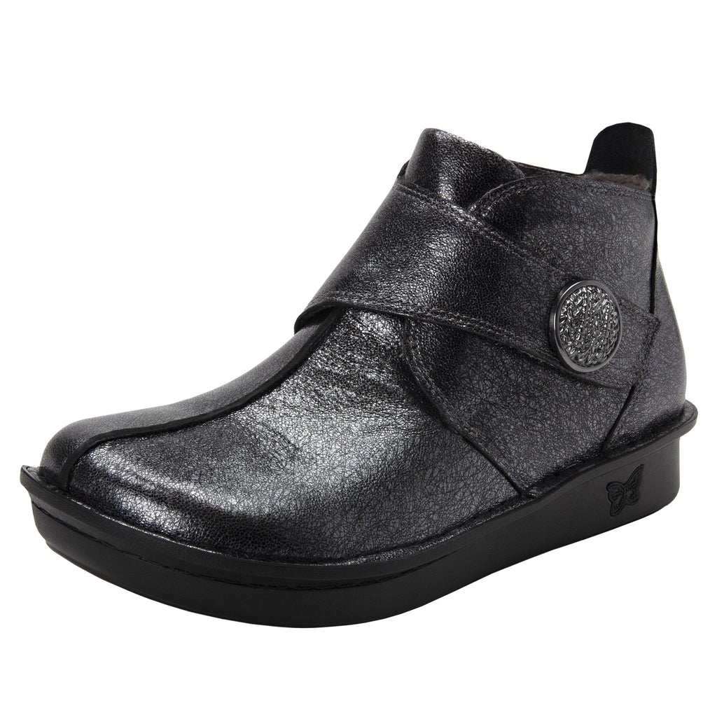 Caiti Graphite Boot with adjustable strap on the mini outsole - CAT-188_S1 (2288227385398)