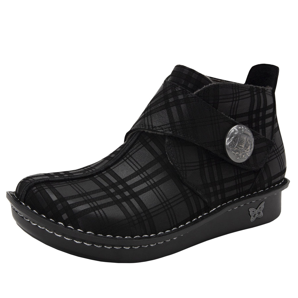 Caiti Plaid To Meet You Boot with adjustable strap on the mini outsole - CAT-597_S1 (2288227713078)