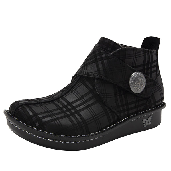 Caiti Plaid To Meet You Boot with adjustable strap on the mini outsole - CAT-597_S1