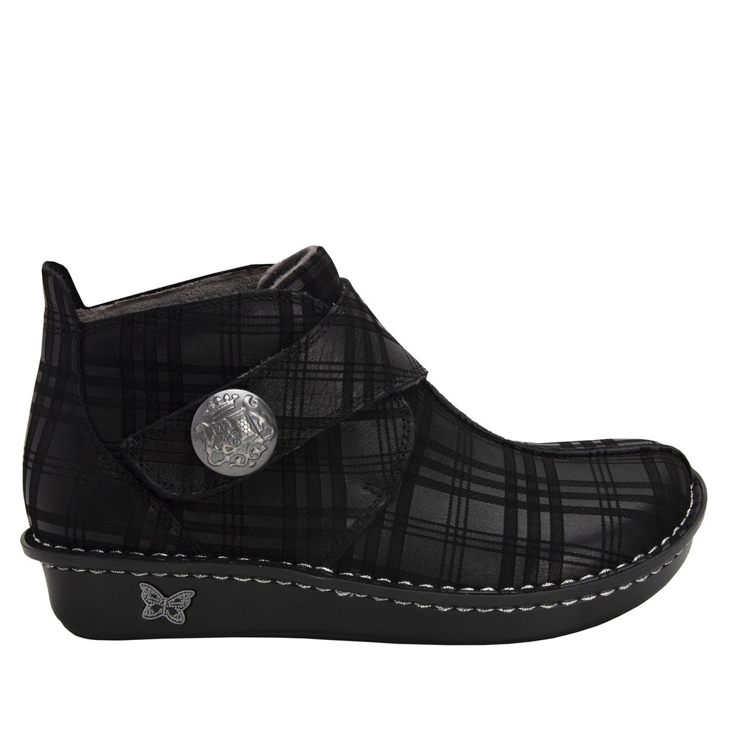 Caiti Plaid To Meet You Boot with adjustable strap on the mini outsole - CAT-597_S2