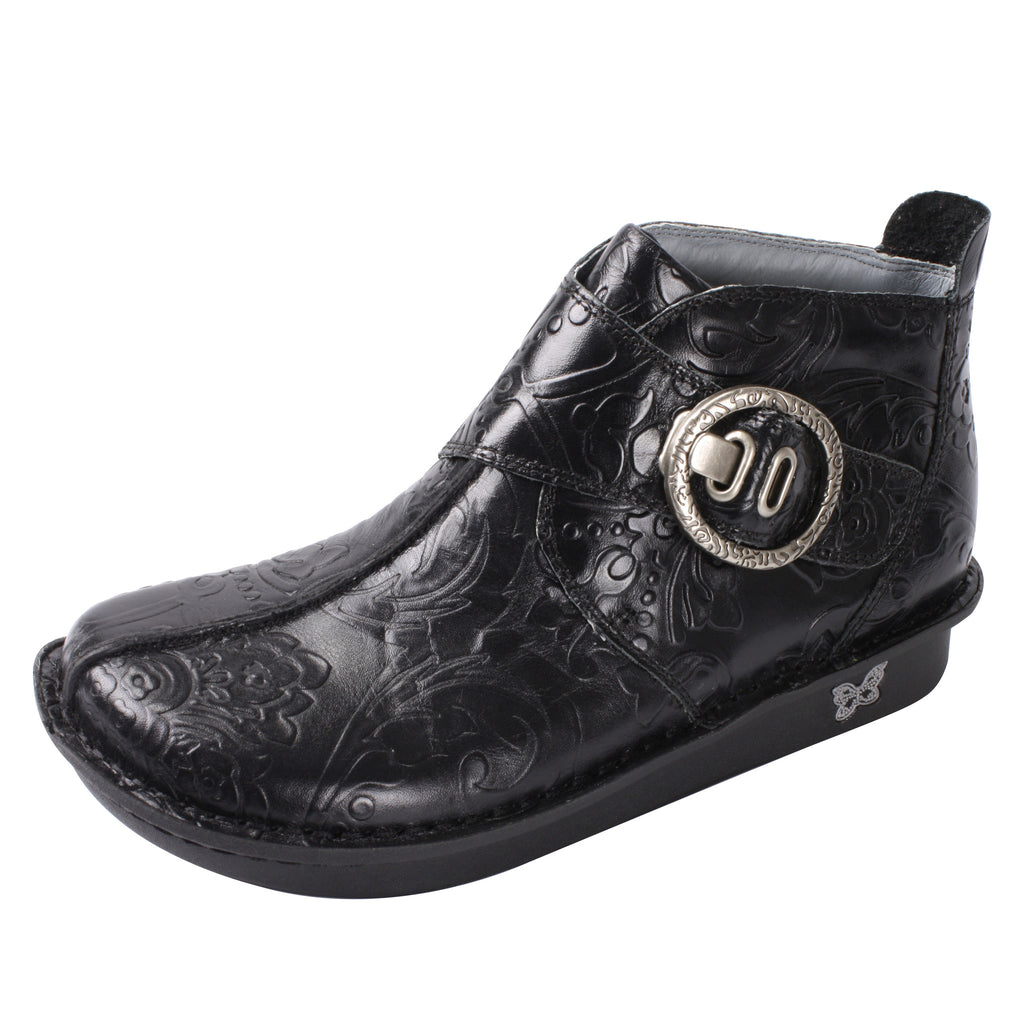 Caiti Yeehaw Black Boot - Alegria Shoes