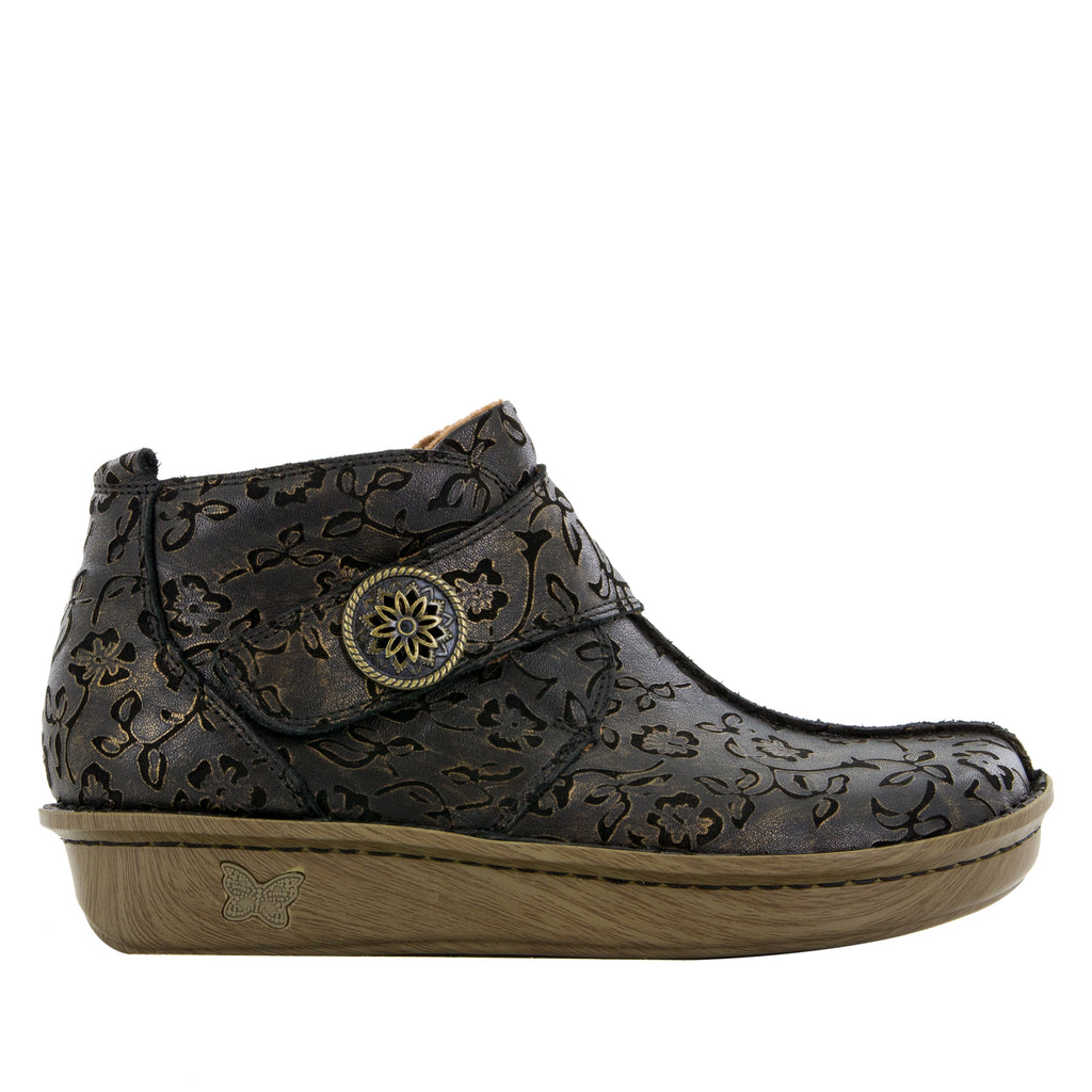 Caiti Bronze Eyed Susan Boot with adjustable strap on the mini outsole - CAT-854_S2