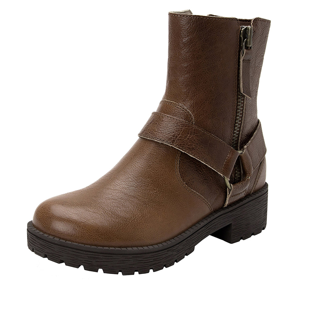Charlette Crazyhorse Brown boot with rugged lug inspired outsole- CHA-102CH_S1