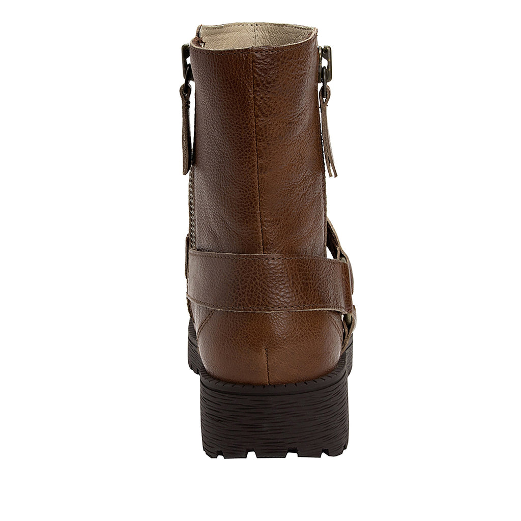 Charlette Crazyhorse Brown boot with rugged lug inspired outsole- CHA-102CH_S3