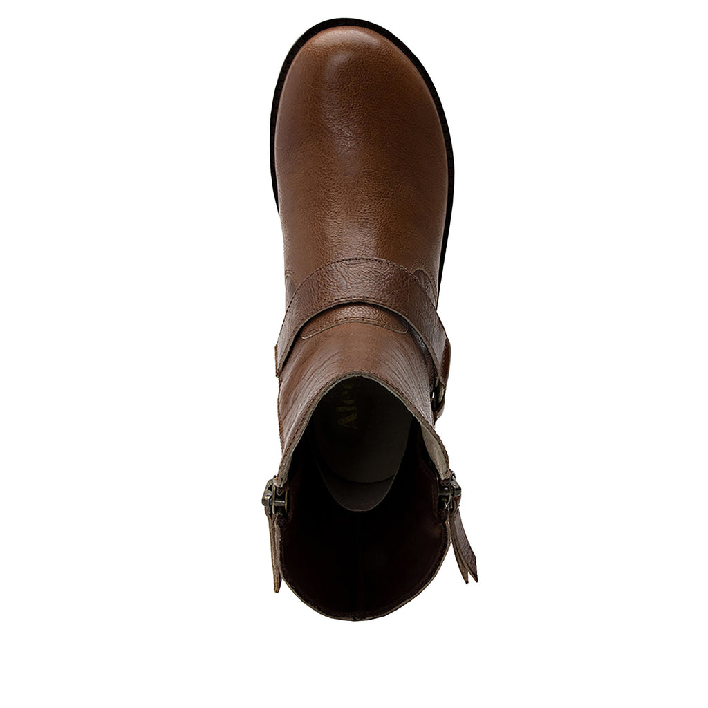 Charlette Crazyhorse Brown boot with rugged lug inspired outsole- CHA-102CH_S4