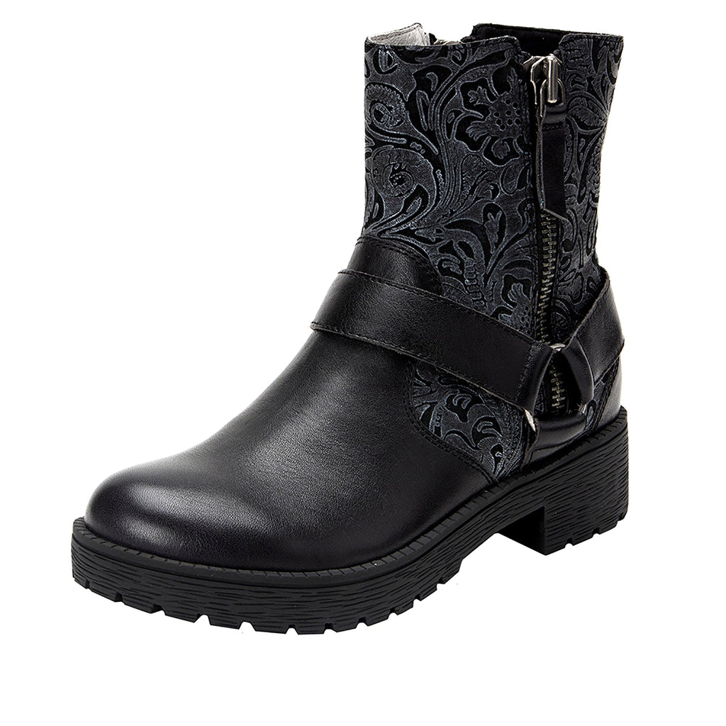 Charlette Pewter Swish boot with rugged lug inspired outsole- CHA-185_S1