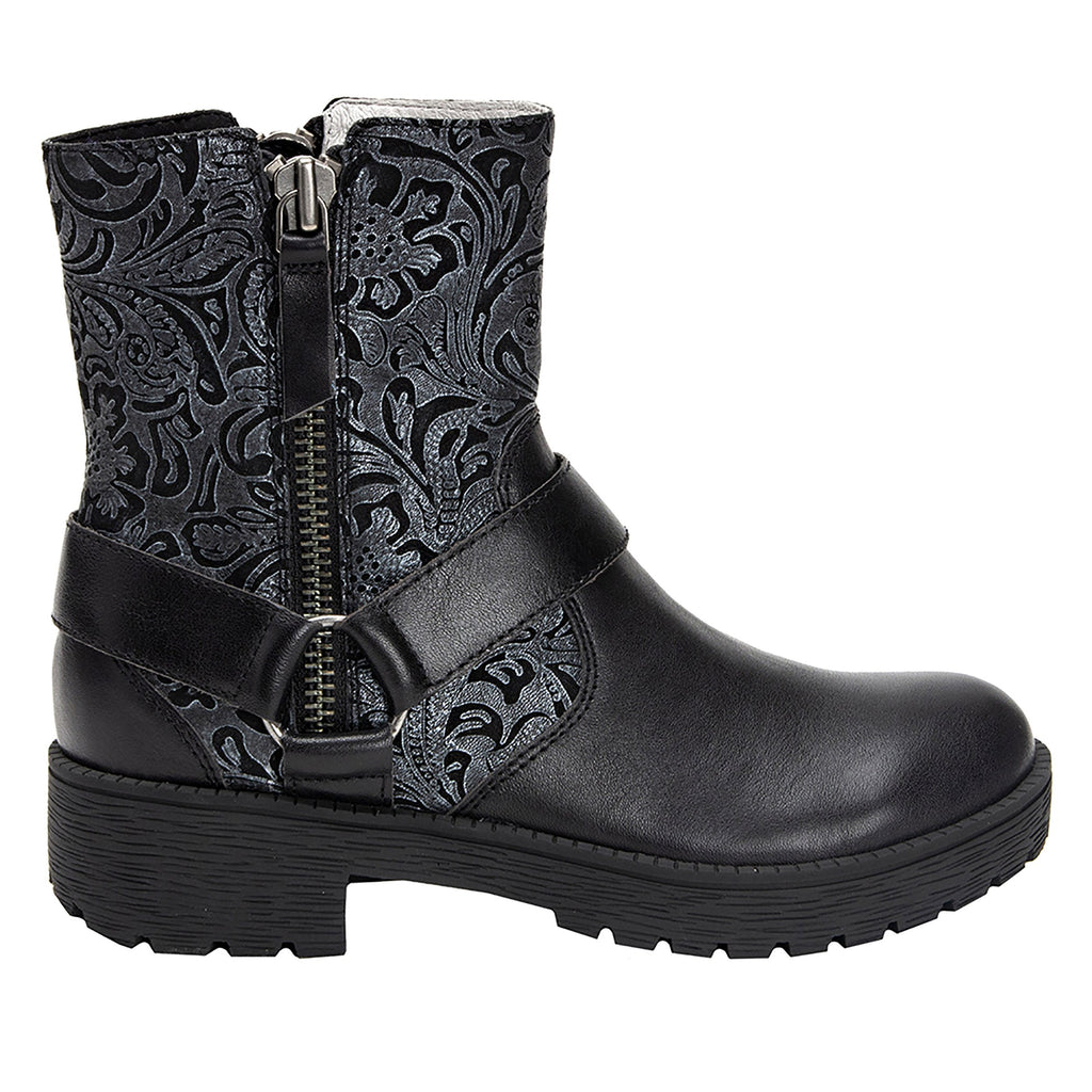 Charlette Pewter Swish boot with rugged lug inspired outsole- CHA-185_S2