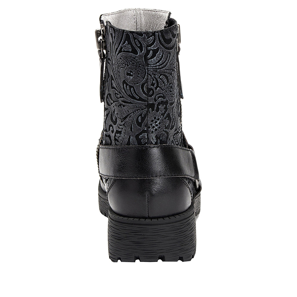 Charlette Pewter Swish boot with rugged lug inspired outsole- CHA-185_S3