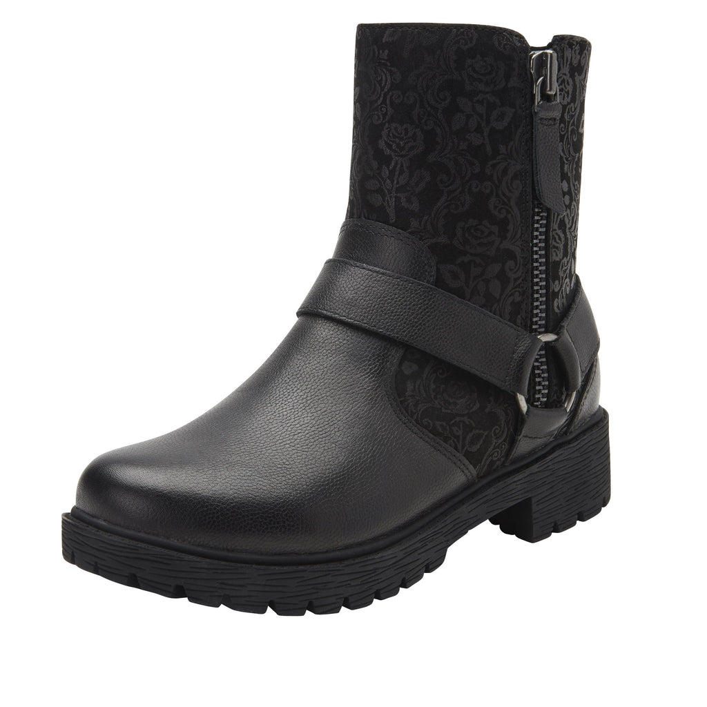 Charlette Goth You're Cool boot with rugged lug inspired outsole- CHA-7928_S1