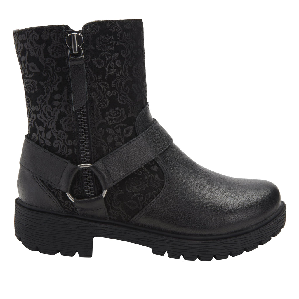 Charlette Goth You're Cool boot with rugged lug inspired outsole- CHA-7928_S2