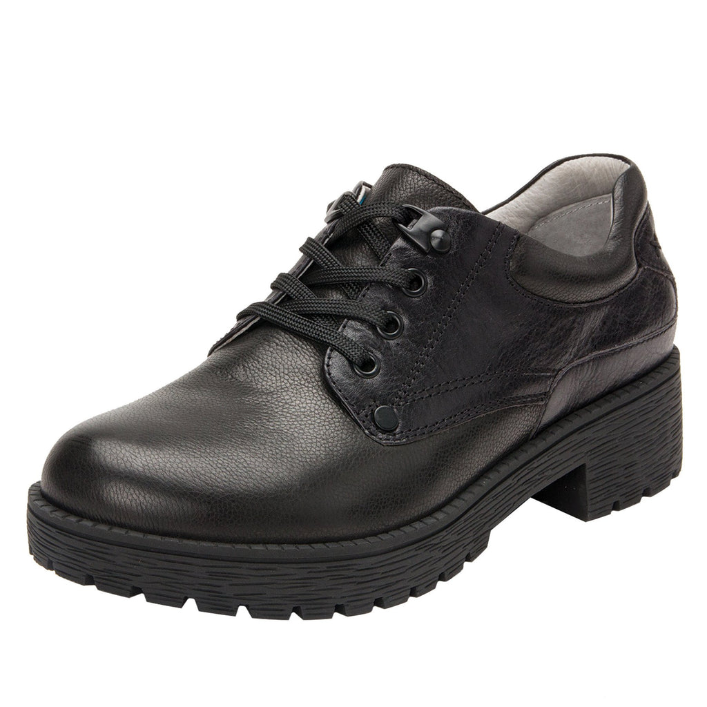 Cheryl Black Boot fashion hiker with lug inspired outsole - CHE-601_S1