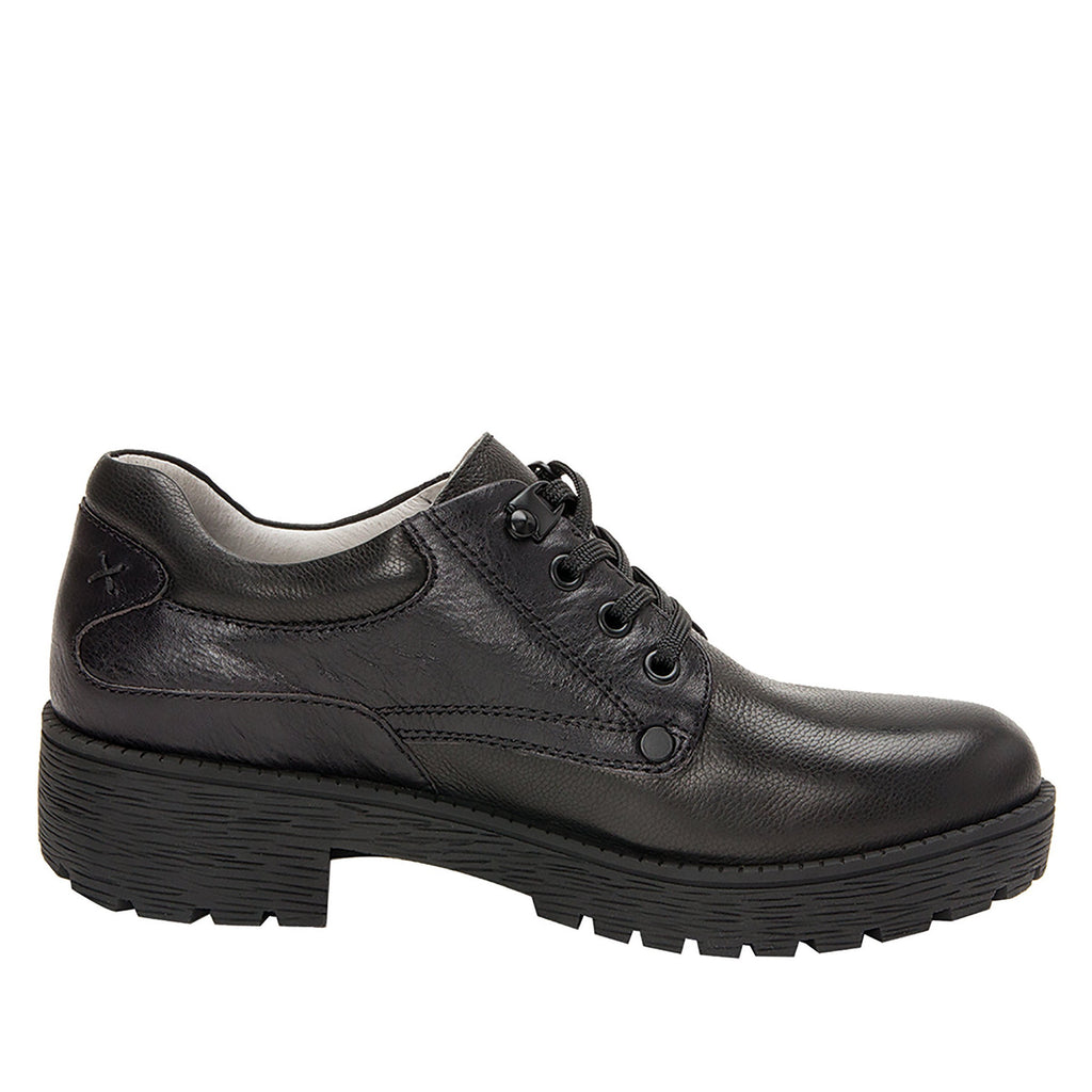 Cheryl Black Boot fashion hiker with lug inspired outsole - CHE-601_S2
