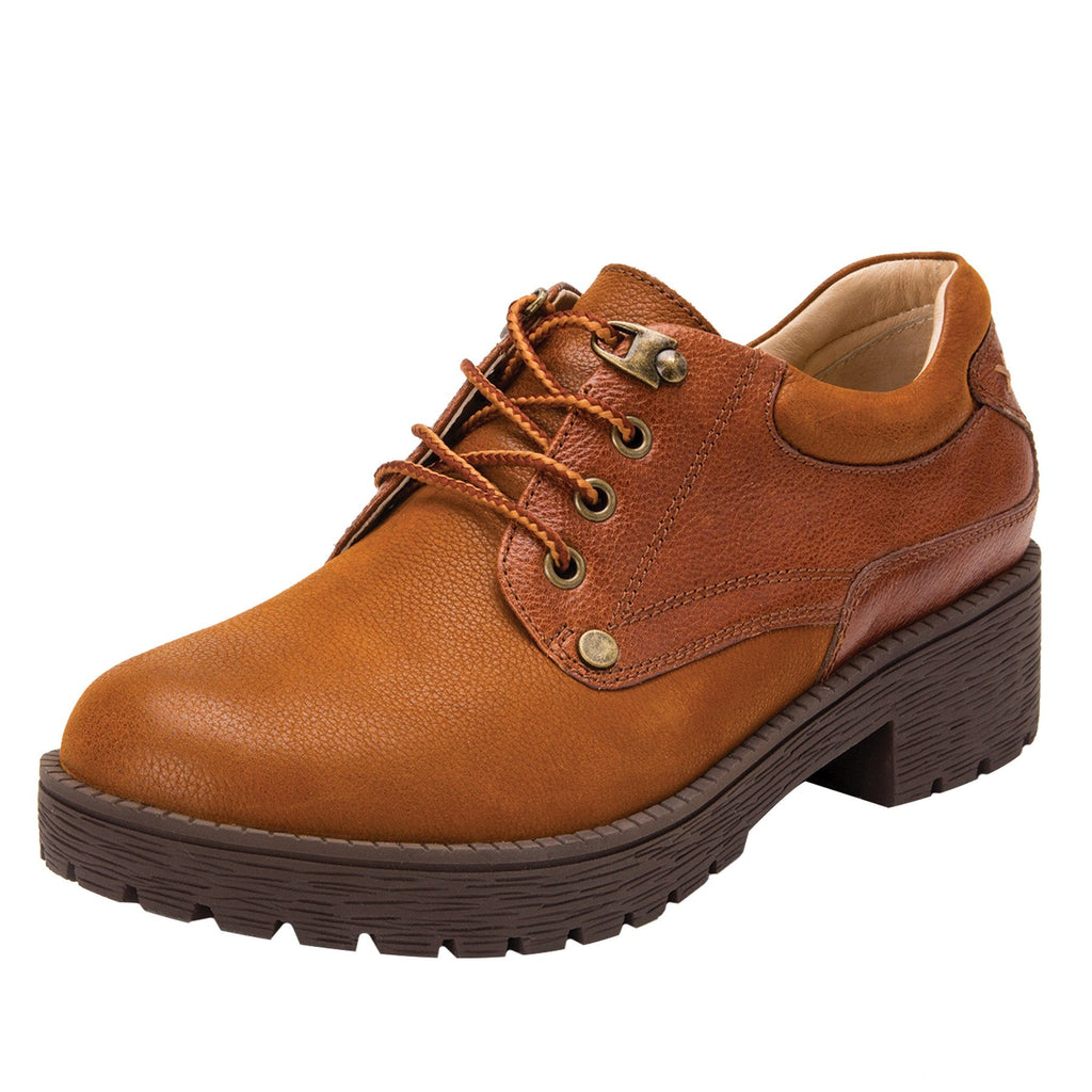 Cheryl Cognac Boot fashion hiker with lug inspired outsole - CHE-647_S1