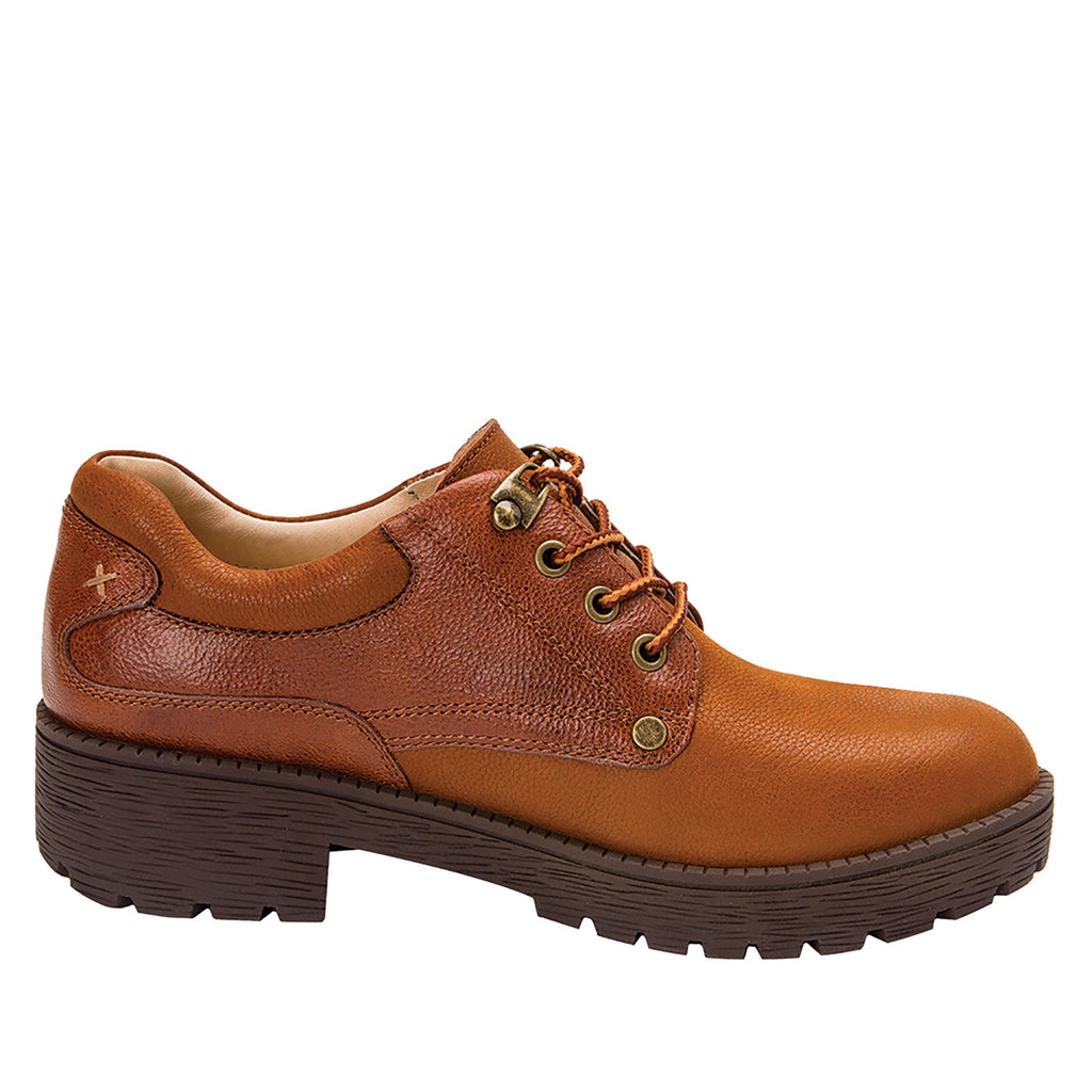 Cheryl Cognac Boot fashion hiker with lug inspired outsole - CHE-647_S2