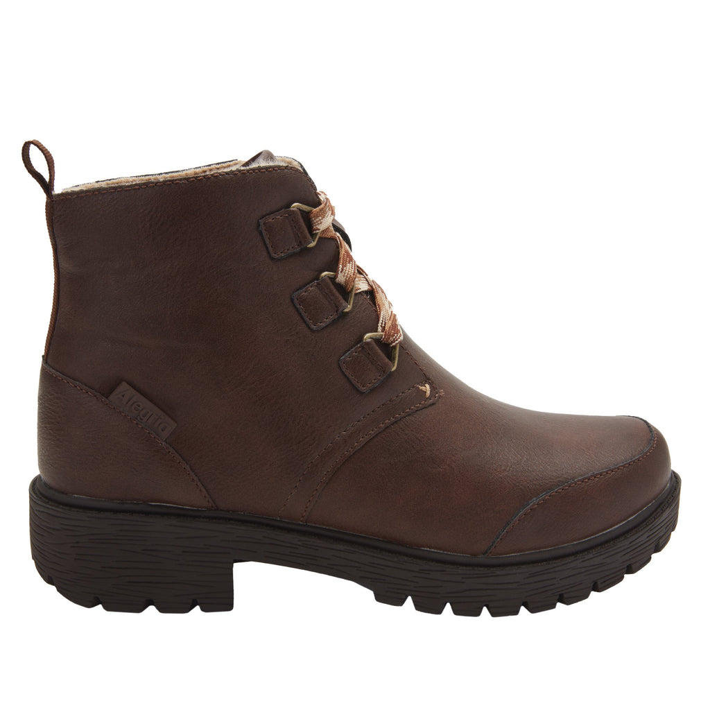 Cheri Smooth Brown water-resistant boot with rugged lug inspired outsole- CHR-602_S2