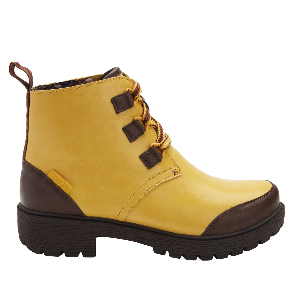 Cheri Mustard water-resistant boot with rugged lug inspired outsole- CHR-7939_S2