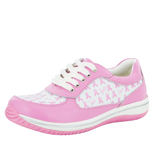 Cindi Pink Ribbon Power Professional Nursing Shoe - Alegria Shoes