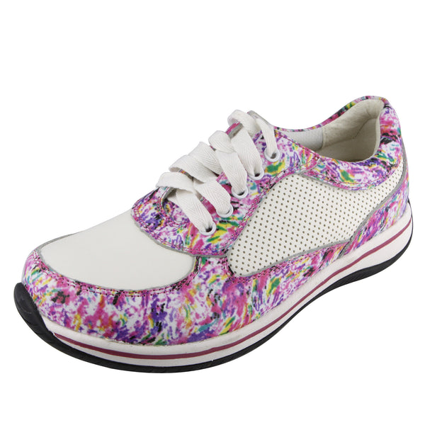 Cindi Pink Swirl Professional Nursing Shoe - Alegria Shoes