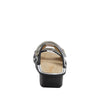 Clara Black slide sandal with dual adjustable straps on classic rocker outsole - CLA-611_S3